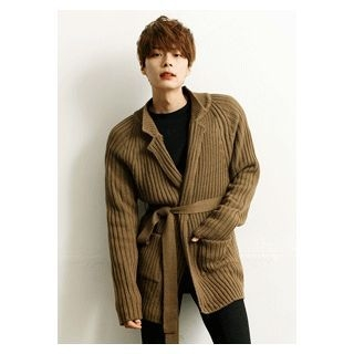 Tie-Front Ribbed Cardigan 1057736389