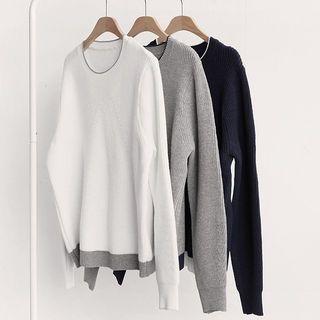Contrast-Trim Knit Top 1057162990