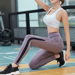 Short-sleeve | T-Shirt | Stripe | Cross | Sport | Strap | Yoga | Pant