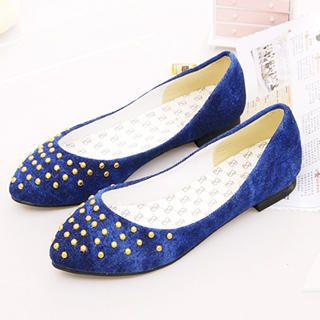 Buy KAWO Studded Denim Flats 1023018459