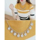 Rhinestone Statement Necklace 1596
