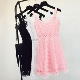 Lace Spaghetti Strap Dress 1060359912