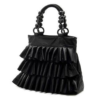 Buy Smoothie Beaded-Handle Ruffle Tote 1022996414