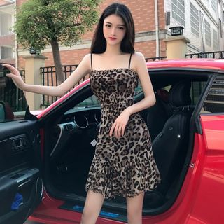 Spaghetti | Leopard | Strap | Dress | Print | Mini