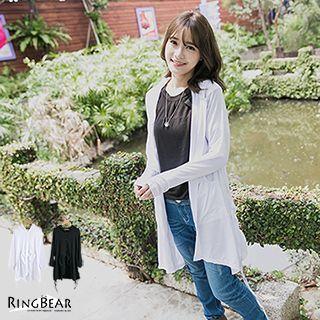 Printed Dip-Back Hooded Shirtdress 1032327595