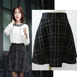 Image of Tweed A-Line Skirt