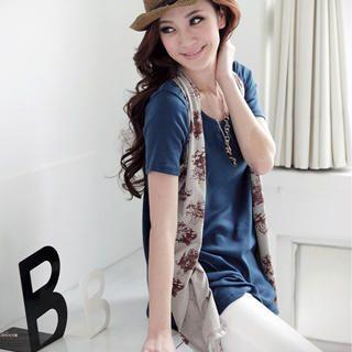 Buy OrangeBear Inset Print Vest Short-Sleeve Top 1023029023