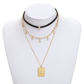 Necklace | Pendant | Choker | Gold | Size | One