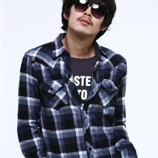 Picture of BLUE HOMME Check Shirt 1021931755 (BLUE HOMME, Mens Shirts, Korea)
