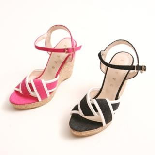 Buy KENZI Canvas Wedge Sandals 1022846855
