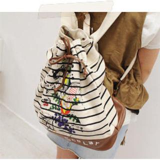 Buy Sechuna Striped Backpack 1021077585