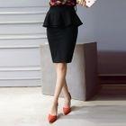 Peplum Pencil Skirt 1596