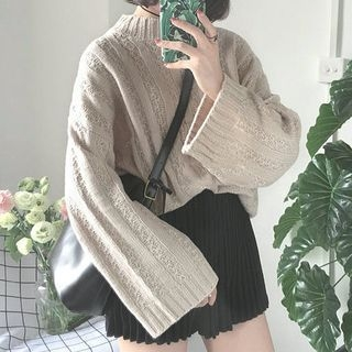 Ribbed Long-Sleeve Knit Sweater 1062488345