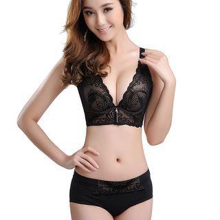 Set: Lace Push Up Bra + Panties 1050439288