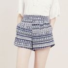 Pleated Patterned Shorts 1596