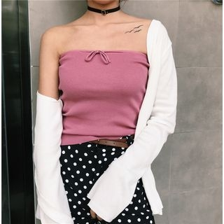 Rib Knit Tube Top 1058215847