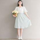 Mock Two-Piece Dress 1596