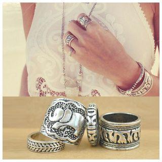 Set of 4: Elephant Rings 1045134171