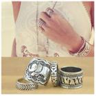 Set of 4: Elephant Rings 1596