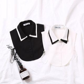 Image of Contrast Chiffon Decorative Collar