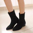 Pointy Toe Short Boots 1596