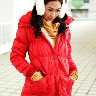 Picture of 19th Street Fleece-Trim Padded Coat 1021736350 (19th Street Apparel, Womens Outerwear, China Apparel, China Outerwear)