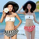 Stripe Halter Bikini 1596
