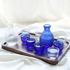 Glass Wine Bottle Set 1596