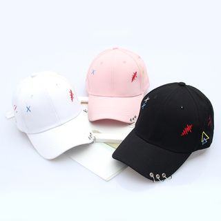 Embroidered Hoop-Accent Baseball Cap 1060853165