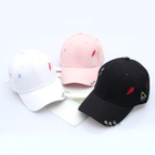 Embroidered Hoop-Accent Baseball Cap 1596