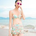 Set: Print Bikini + Swim Skirt 1596