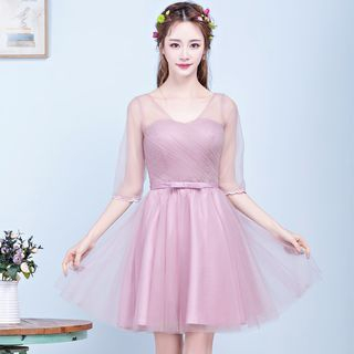 Tulle Bridesmaid Dress 1058528216