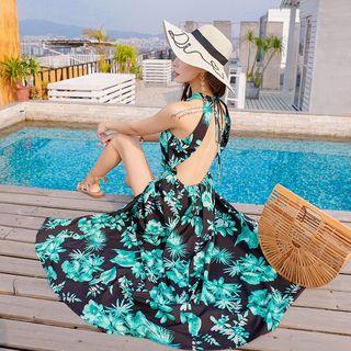 Halter | Floral | Dress