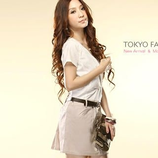 Buy Tokyo Fashion Belted Mock Two-Piece Dress 1022859711