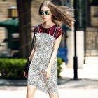 Cap-Sleeve Leopard-Print Silk Dress 1596