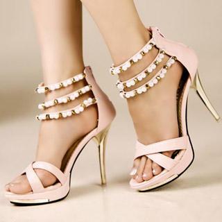 Buy Kvoll Beaded Strappy Platform Sandals 1022979570