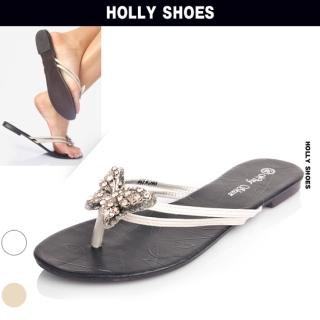 Buy Holly Shoes Beads Accent Flip Flops 1022992636