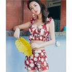 Set: Floral Print Bikini + Swim Shorts 1596