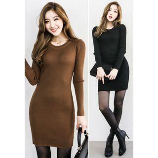 Ribbed Mini Knit Dress 1054099212