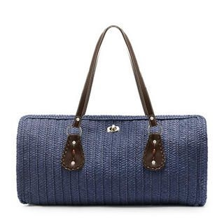 Buy Let's Fly Woven Shoulder Bag Emerald Blue – One Size 1022938184