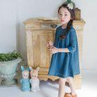 Kids Elbow-Sleeve Lace Dress 1596