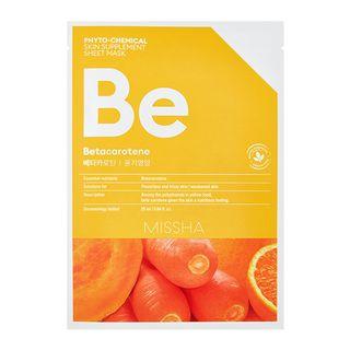 Phyto-Chemical Skin Supplement Sheet Mask (Betacarotene) 1pc