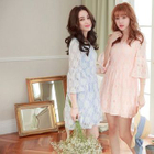 Bell-Sleeve Lace Dress 1596
