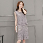Set: Sleeveless Lace Top + Lace Shorts 1596