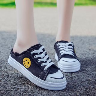 Image of Frayed Trim Sneakers