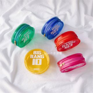 Image of Lettering PVC Round Coin Purse