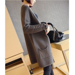 Ribbed Long Cardigan 1054106029