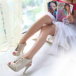 Buy KAWO Lace-Up Slingback Heels 1022902810