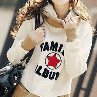 Hooded Lettering Sweatshirt 1045858802