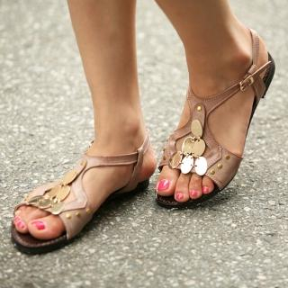 Picture of Jean Stone Faux-Leather Sandals 1022998402 (Sandals, Jean Stone Shoes, Korea Shoes, Womens Shoes, Womens Sandals)